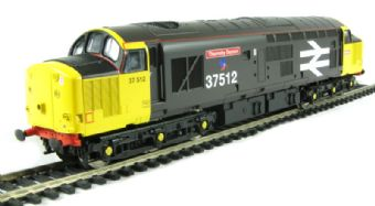 """V2076 Class 37/5 37512 """"Thornaby Demon"""" in Railfreight large logo grey livery"""