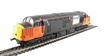 V2077 Class 37/7 37710 in Loadhaul livery