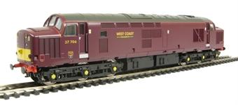 V2080 Class 37/7 37706 West Coast Railways livery