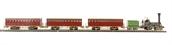 00690 Pegasus Train set with 4-2-0 steam loco & tender & 3 historical passenger cars £80