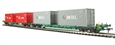 37-320A Intermodal Bogie Wagons With Two Pairs 20ft Containers 'K Line & MOL'.