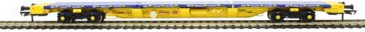 H4-FEAS-005 FEA-S intermodal wagon 640921 in GBRf/Metronet yellow with track panel carrier