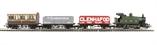 R1138 GWR Passenger Freight train set with GWR Class 101 0-4-0 steam loco, 2 wagons & 4 wheel coach