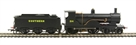 R2829 Class T9 Greyhound 4-4-0 314 in Southern Black