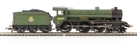 R2921 Class B17/2 Sandringham 4-6-0 61637 'Thorpe Hall' in BR Green with early crest
