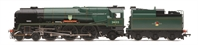 R3203 Class 7P6F Rebuilt West Country Class 4-6-2 34013 Okehampton in BR Green with late crest